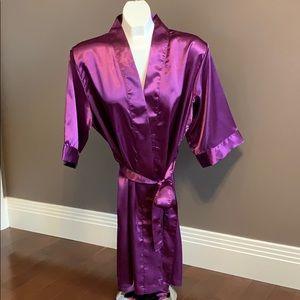 Women's purple, white, ivory, green silky robes